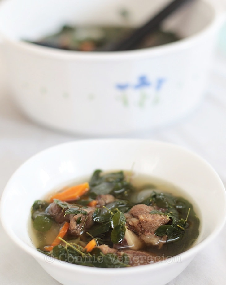 casaveneracion.com Beef with ginger and malunggay soup