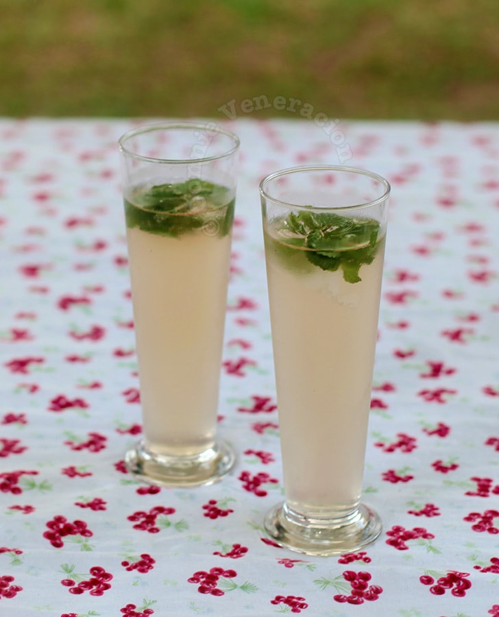 Ginger and lemongrass fizz