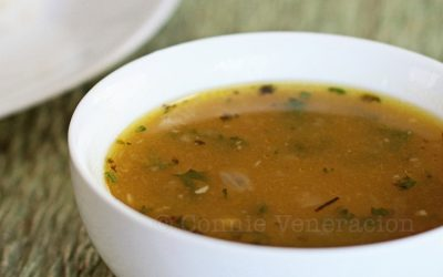 Squash and potato soup with marjoram
