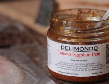 A surprisingly good eggplant and tomato pate
