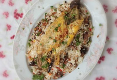 eggplant-omelet-fried-rice