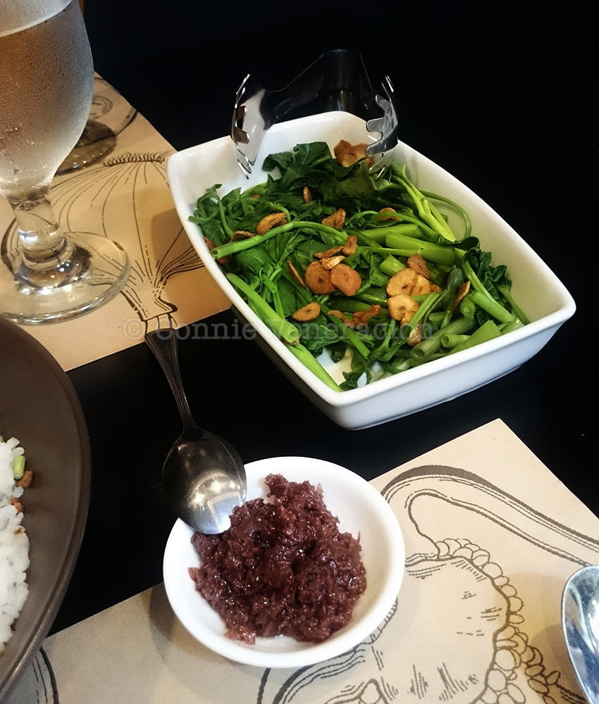 Kangkong at bagoong at Minced Manila, Antipolo