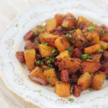 Perfect for brunch: squash with chorizo