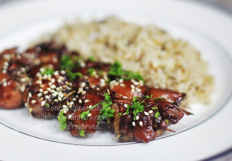 Skewered Honey Balsamic Chicken | casaveneracion.com