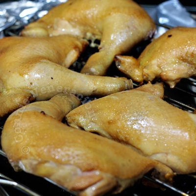 Tea-smoked Chicken in a Wok