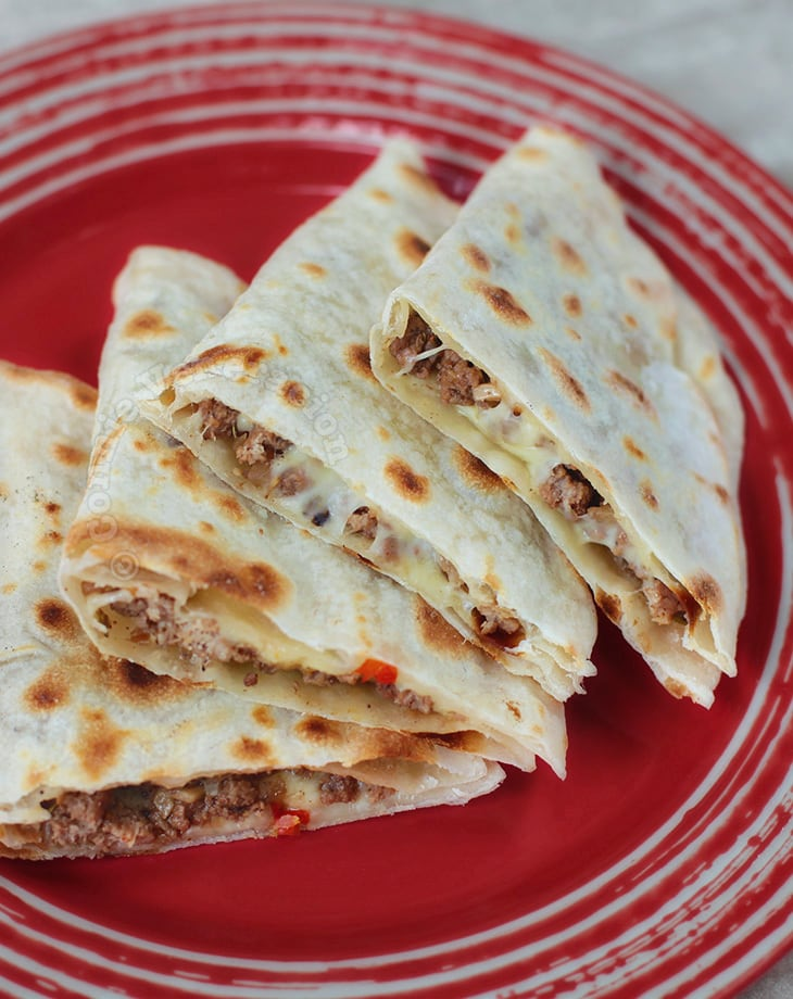 Alex's Beef Quesadillas