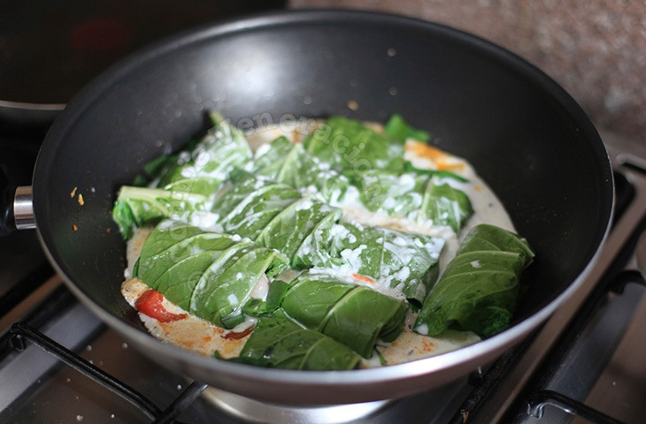 Chicken-stuffed Bok Choy With Coconut Cream Sauce