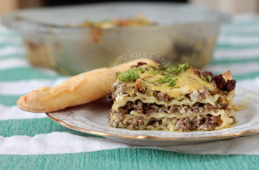 Alex's Lasagne With Pesto and White Sauce | casaveneracion.com