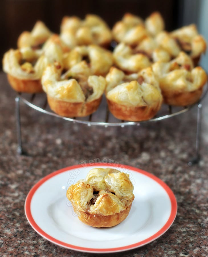 Chicken and Mushroom Puff Pies