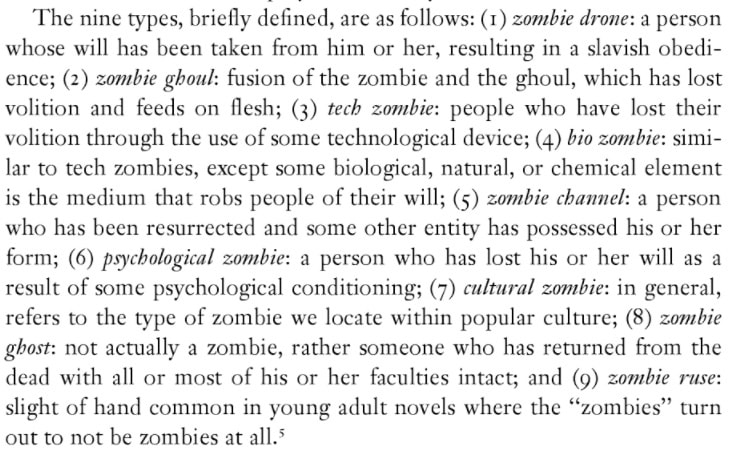 Types of Zombies in Better Off Dead: The Evolution of the Zombie as Post-human (edited by Deborah Christie, Sarah Juliet Lauro)