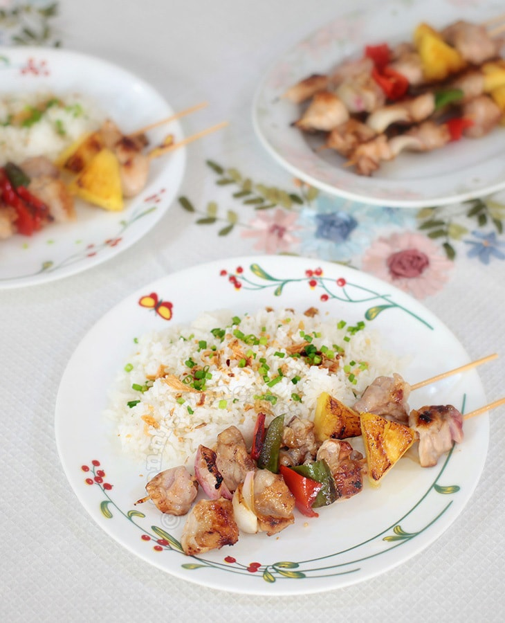 Spicy Chicken Pineapple Kabobs