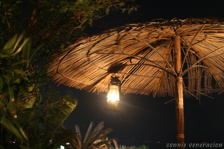 umbrella with a lantern