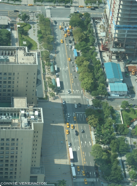 buildings that look tiny when viewed from the 89th floor of Taipei 101