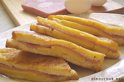 casaveneracion.com Ham and cheese stuffed French toast
