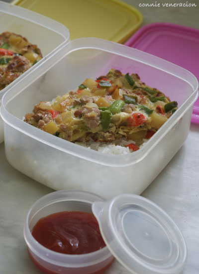 casaveneracion.com my kids' packed school lunch - pork and vegetables frittata