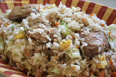 casaveneracion.com fried chicken and cabbage fried rice