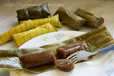 casaveneracion.com suman, sweetened rice wrapped in leaves
