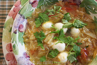 casaveneracion.com Cabbage and quail eggs soup