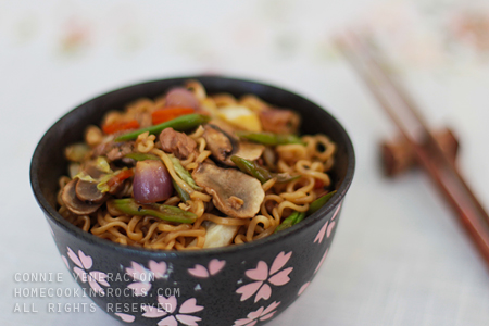 casaveneracion.com Lo mein with soy and lemon sauce