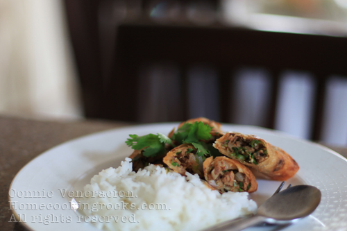 casaveneracion.com Spring rolls with braised beef and herbs