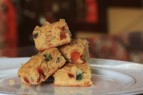 casaveneracion.com Fruity, nutty blondies