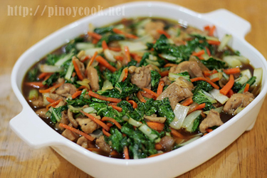 casaveneracion.com Sauteed chicken thigh meat, pechay and carrots