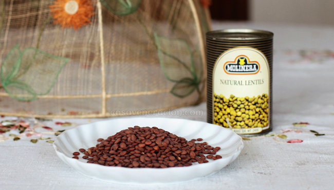 casaveneracion.com Lentils: dried and canned