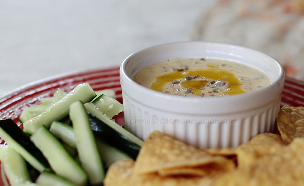 casaveneracion.com Cheese dip that can double as salad dressing or pasta sauce