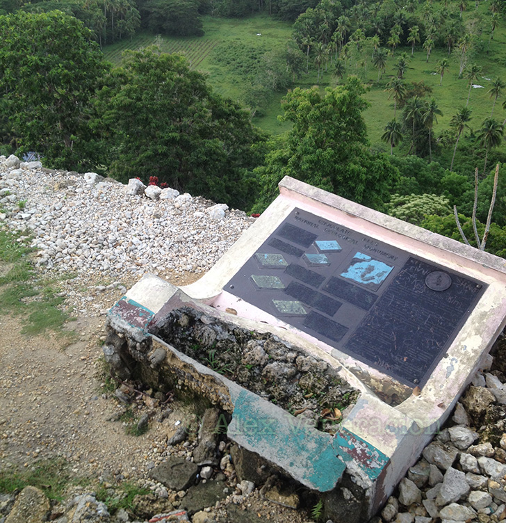 Uprooted Chocolate Hills marker