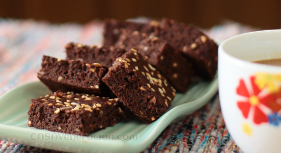 casaveneracion.com Brownies baked with cocoa powder and oil