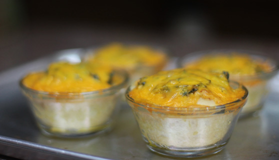 casaveneracion.com Bread cups with sisig ang cheesy spinach filling