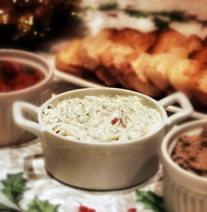 Christmas Eve 2013, sometime before midnight: cheese dip