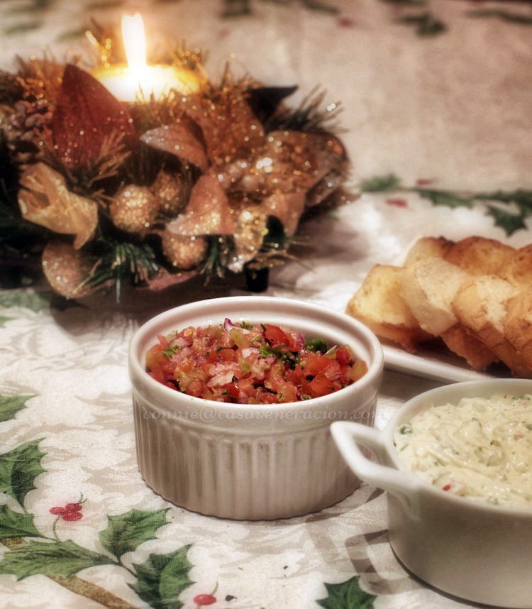 Christmas Eve 2013, sometime before midnight: Mexican-style salsa