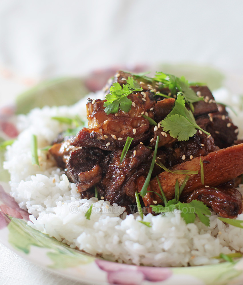 Slow cooker Asian-style glazed beef ribs | casaveneracion.com