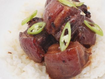Fiery Adobo (Filipino pork adobo with green chilies and cayenne)