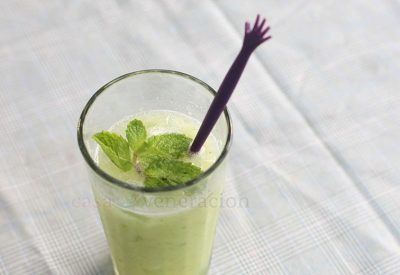 Hydrate your body in the summer heat with this refreshing cucumber cooler with fresh mint.