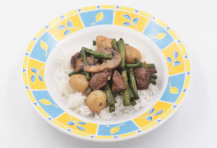 Chicken Livers and String Beans Stir Fry