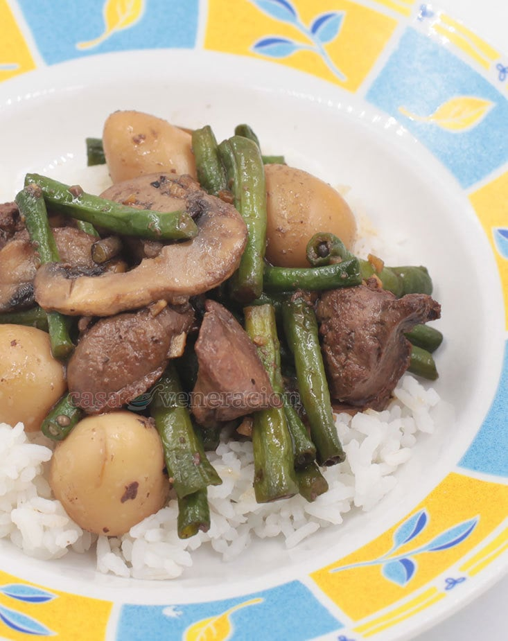 Chicken Livers and String Beans Stir Fry (Keto Friendly Recipe)