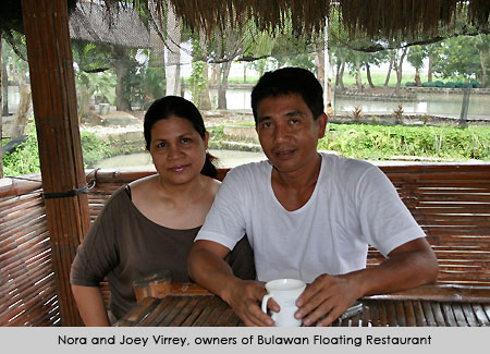 casaveneracion.com Nora and Joey Virrey, former OFWs and owners of Bulawan Floating Restaurant