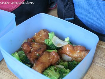 Fish and broccoli in oyster sauce