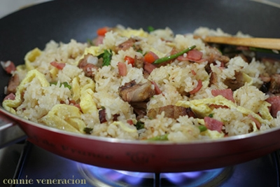 Pork barbecue fried rice