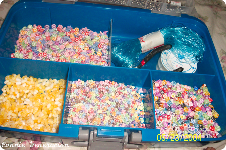 plastic beads and accessories for making costume jewelry