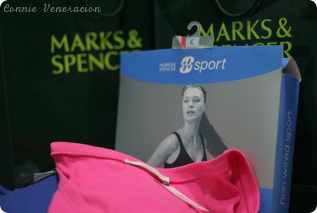 T-shirts and sports bra from Marks and Spencer