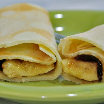 Crepes With Bananas and Guava Jelly Filling