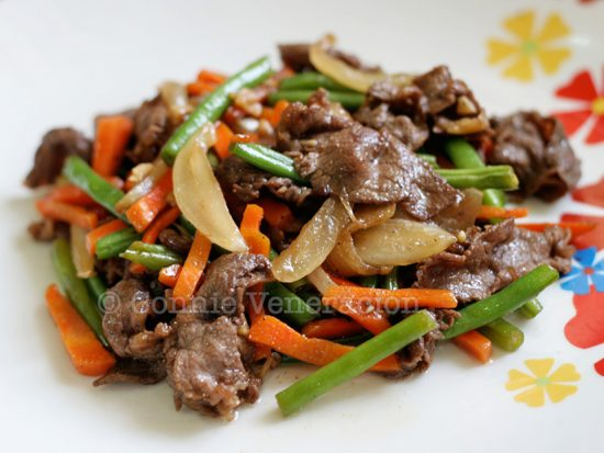 Sweet Salty Beef and Vegetables Stir Fry With Kecap Manis