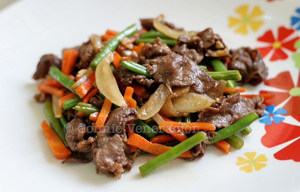 Sweet Salty Beef and Vegetables Stir Fry With Kecap Manis | casaveneracion.com