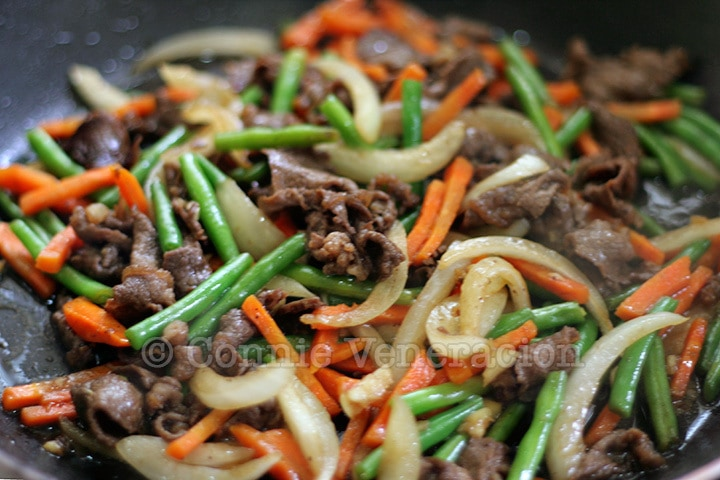 Beef and Vegetables Stir Fry