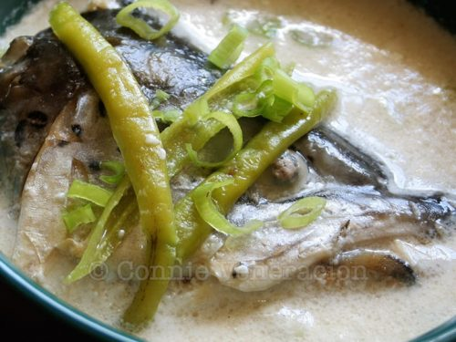 Fish Head Soup With Coconut Cream