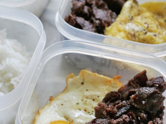 Homemade Tapa in Tapsilog Meal