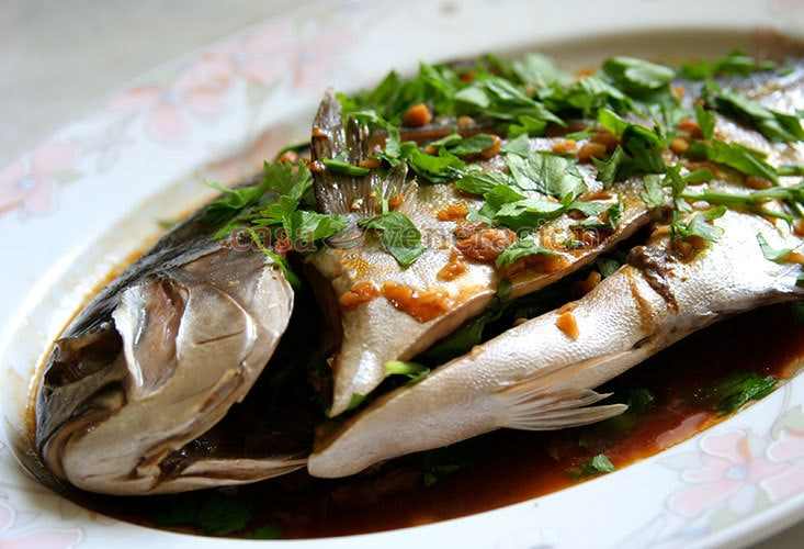 Mother's Day special for moms on a low-fat diet: steamed pompano with ginger sauce   casaveneracion.com
